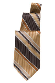 Brown/Gold Striped Tie