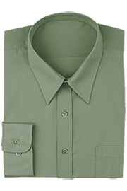 Olive Basic Dress Shirt*