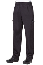 100% Cotton Black Cargo Pants