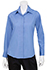 Womens French Blue Essential Dress Shirt - back view