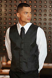 Mens Brocade Vest: Polka Dot
