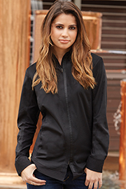 Womens Zip-front Shirt