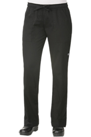 Womens Chef Pants: Black