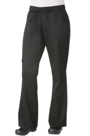 Womens Cargo Pants: Black