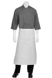 Tapered Apron: White