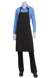 White Pin Striped Bib Aprons